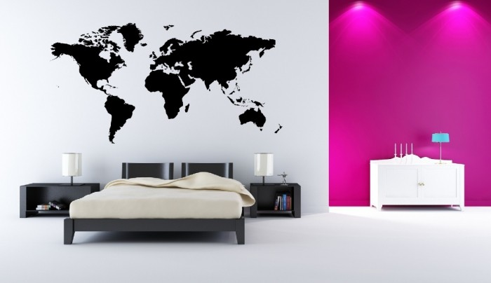 mapa sveta 3d .peknyobraz.sk | nálepka na stenu   Mapa sveta mapa sveta 3d