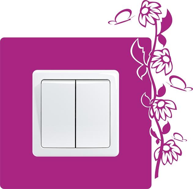 Декор выключателя на стене
