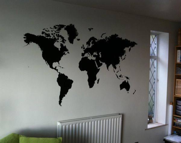 Www Peknyobraz Sk Nalepka Na Stenu Mapa Sveta